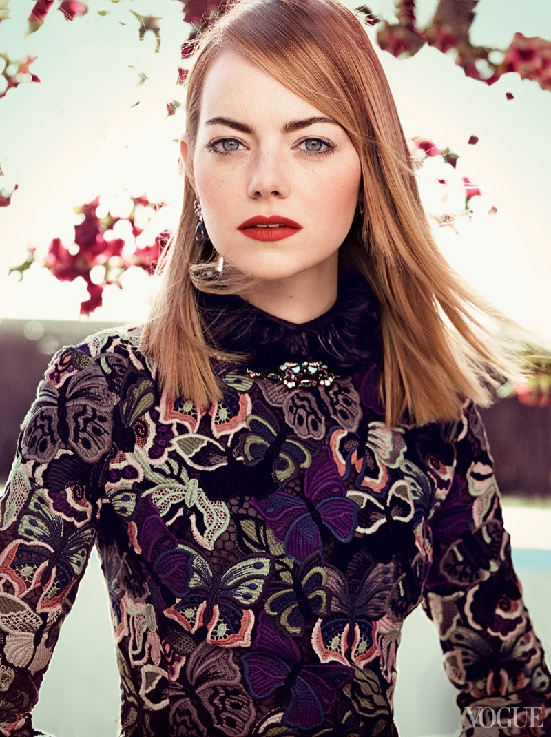 emma stone craig mcdean3 More Photos of Emma Stones Vogue Feature