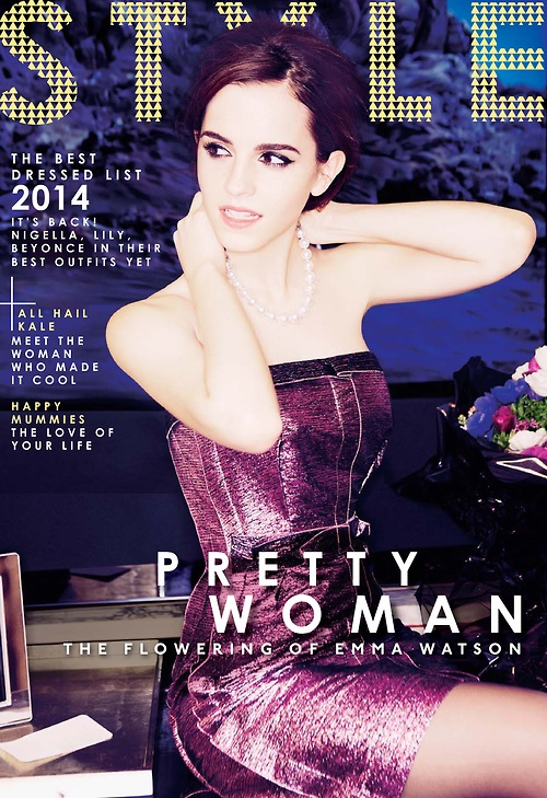 emma watson sunday times style cover Emma Watson Covers The Sunday Times Style, Talks Fashions Unobtainable Image