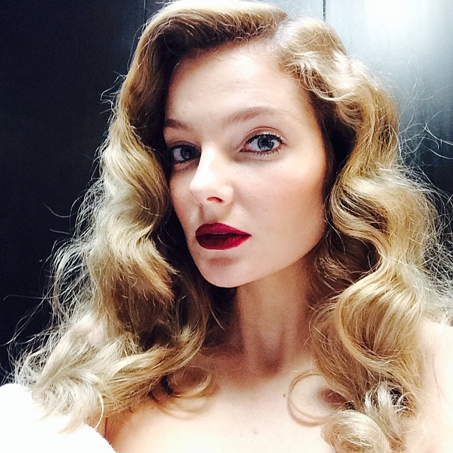 Eniko Mihalik shares a glam behind the scenes shot