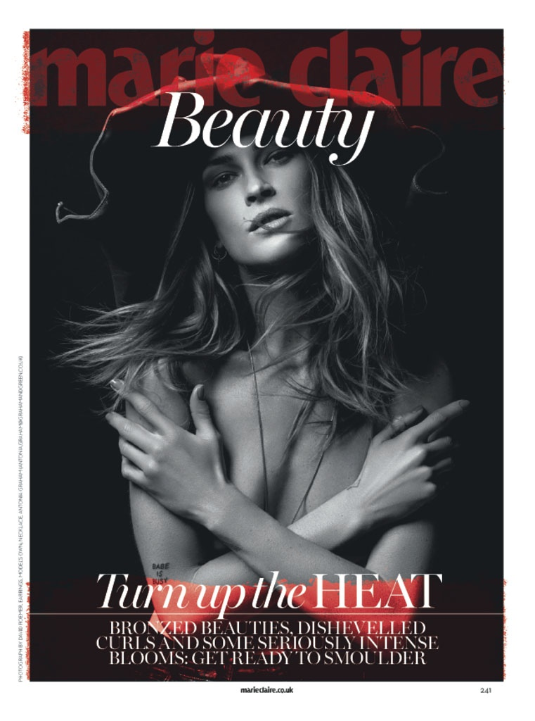 Erin Wasson Stars in Beauty Spread for Marie Claire UK by David Roemer