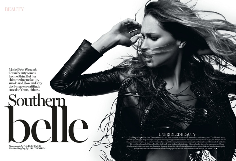 erin wasson david roemer2 Erin Wasson Stars in Beauty Spread for Marie Claire UK by David Roemer