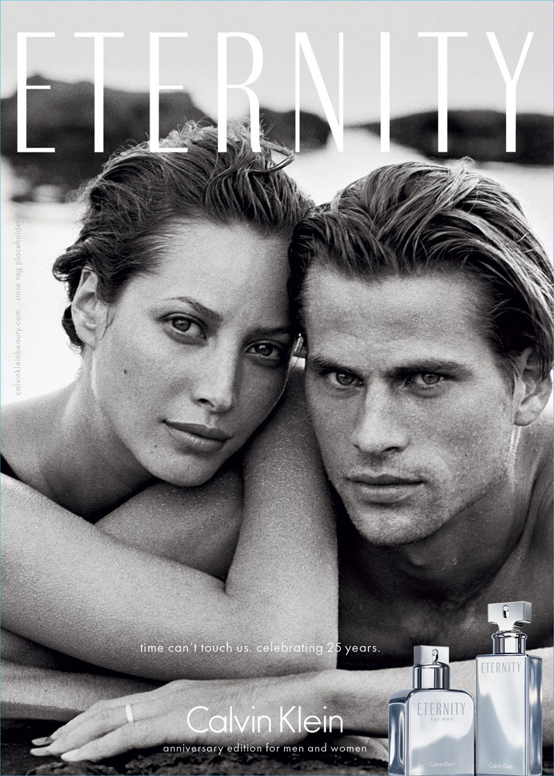 "Calvin Klein Reissues Iconic Christy Turlington Ad for ""Eternity"" 25th Anniversary"