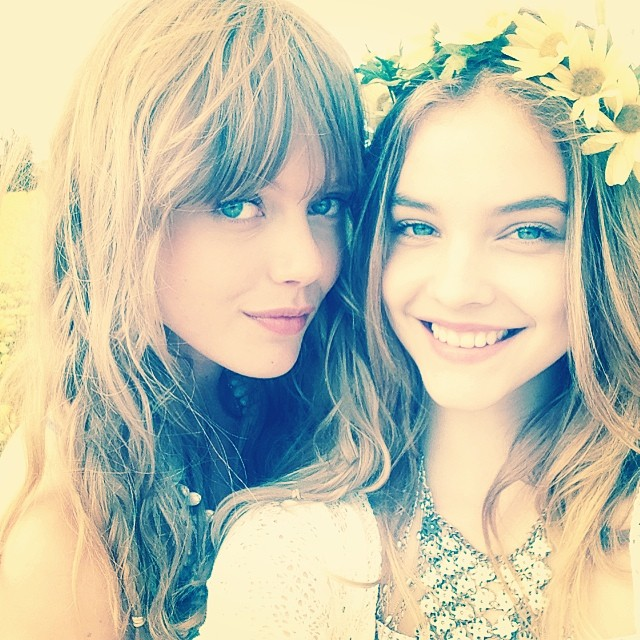 Frida Gustavsson and Barbara Palvin channel hippie chic