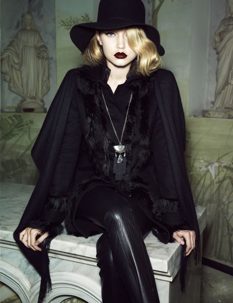 gigi hadid lita mortari fall 2014 7 Gigi Hadid Gets Dark & Glamorous for Lita Mortari F/W 2014 Campaign