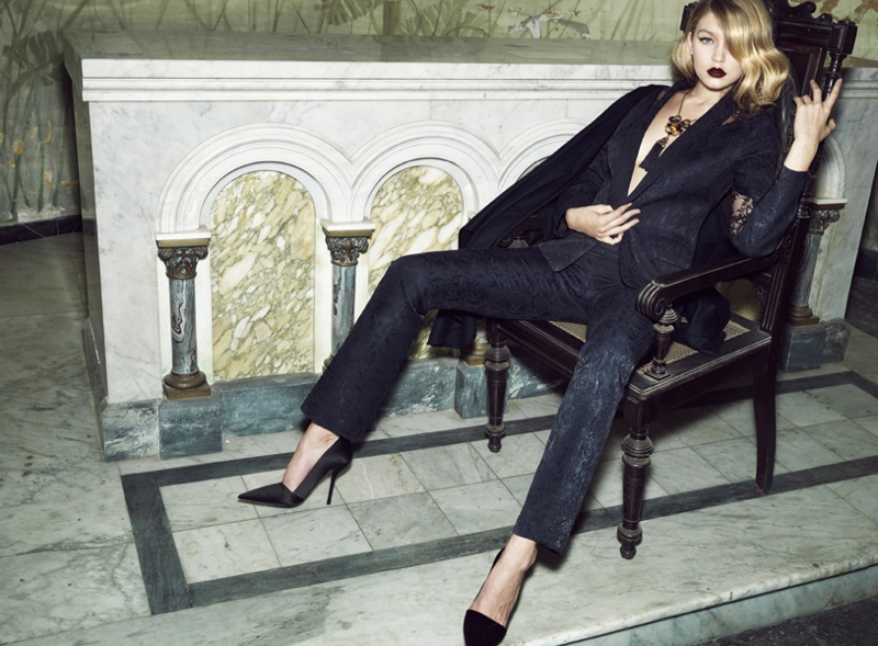 gigi hadid lita mortari fall 2014 8 Gigi Hadid Gets Dark & Glamorous for Lita Mortari F/W 2014 Campaign
