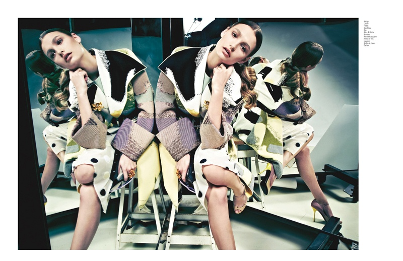 grazia mexico spring2 Spring Reflections: Roosmarijn & Barrett in Printed Looks for Grazia Mexico