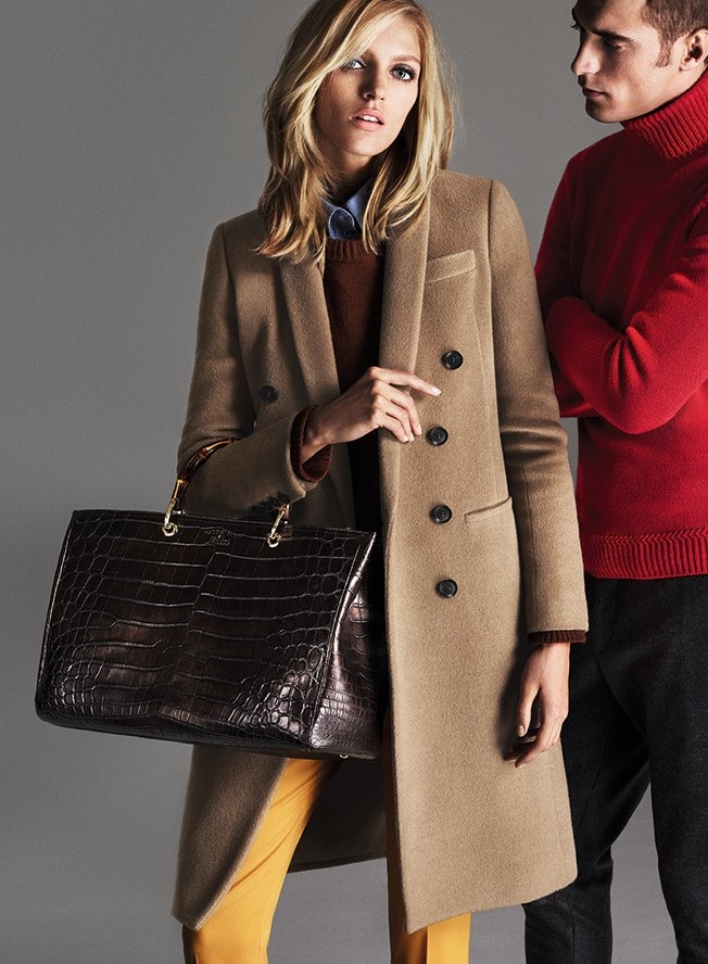 gucci prefall 2014 campaign1 Anja Rubik Gets 70s Chic for Gucci Pre Fall 2014 Campaign