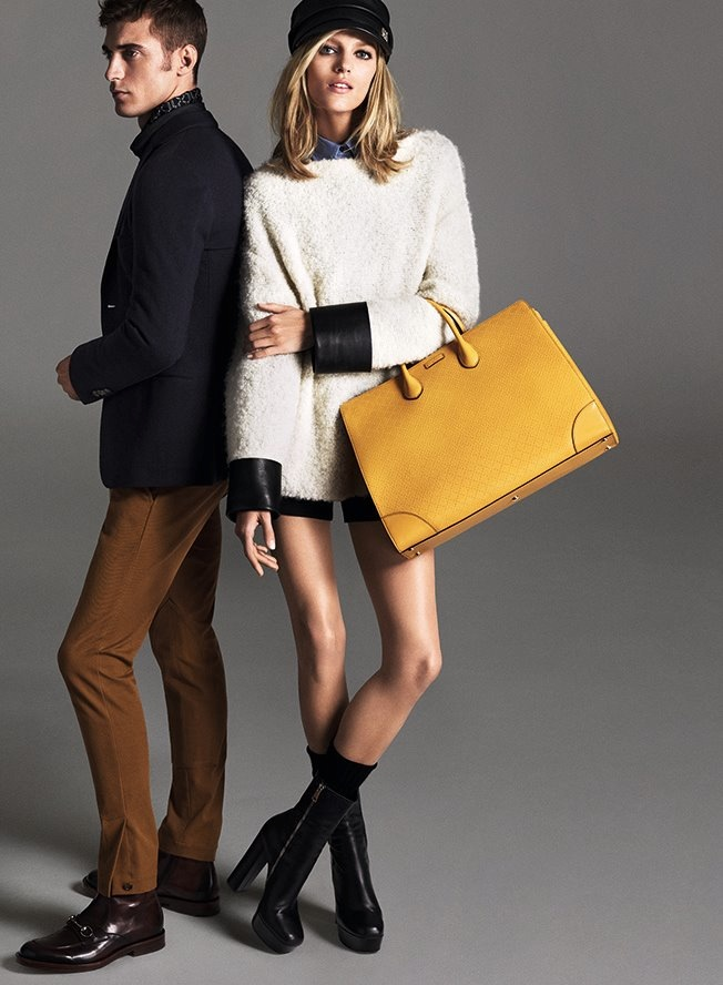 gucci prefall 2014 campaign4 Anja Rubik Gets 70s Chic for Gucci Pre Fall 2014 Campaign