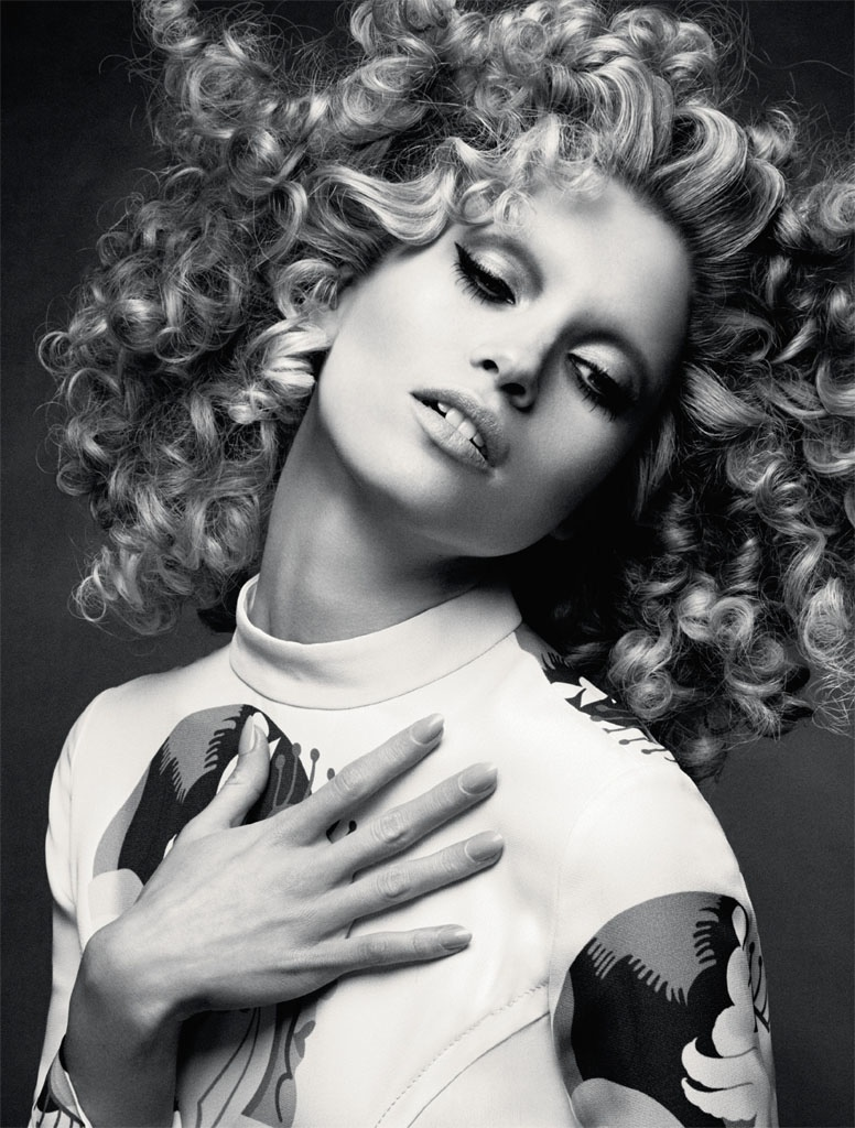 hana jirickova 2014 photos2 Hana Jirickova Rocks Curly Hair in Numero Russia Spread by David Roemer