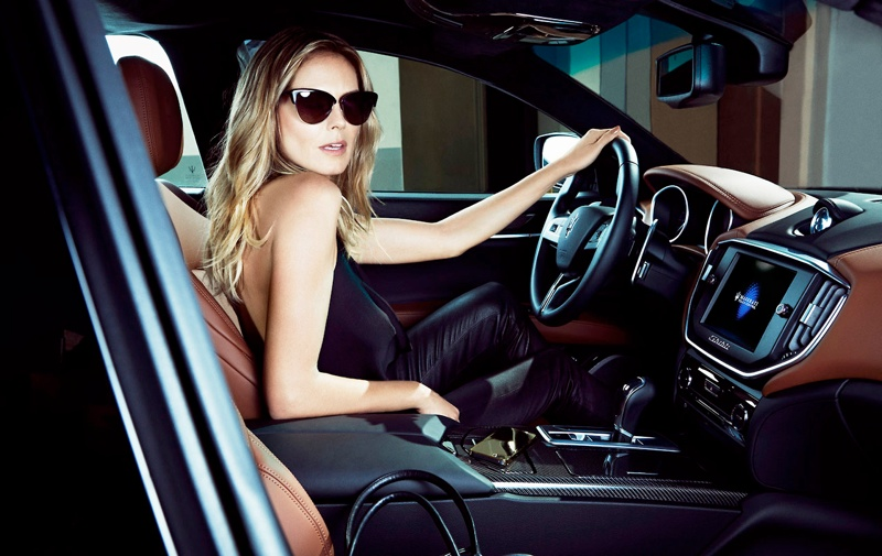 heidi klum maserati 2014 3 Heidi Klum Lives the Glamorous Life in New Maserati Ads