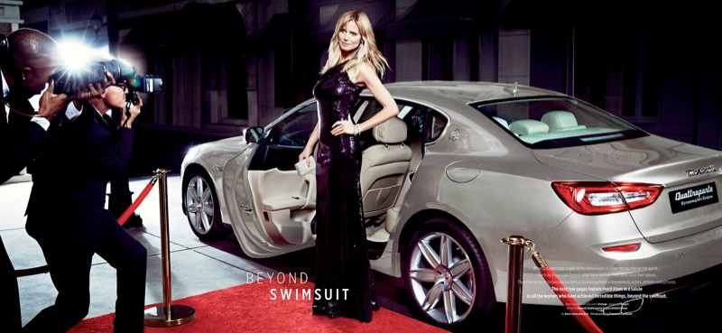 heidi klum maserati 2014 4 Heidi Klum Lives the Glamorous Life in New Maserati Ads
