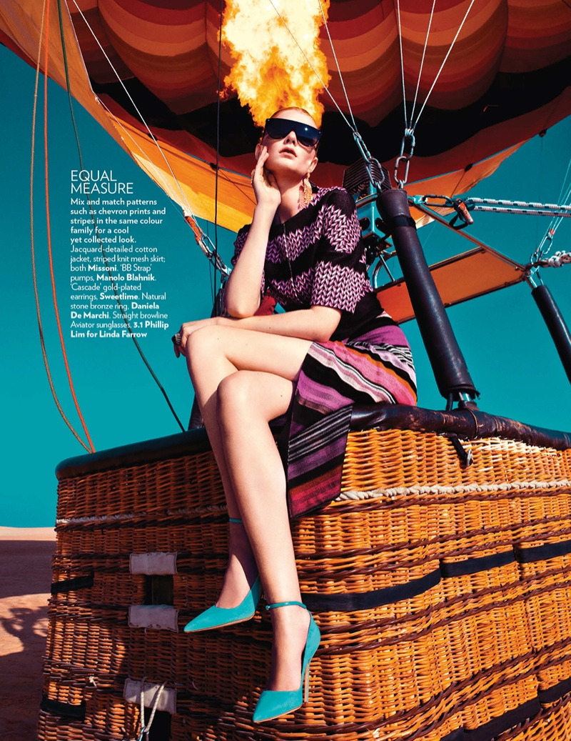 hot air balloon fashion shoot5 Up, Up & Away: Sarah Pauley Enchants for Vogue India Shoot by Mazen Abusrour