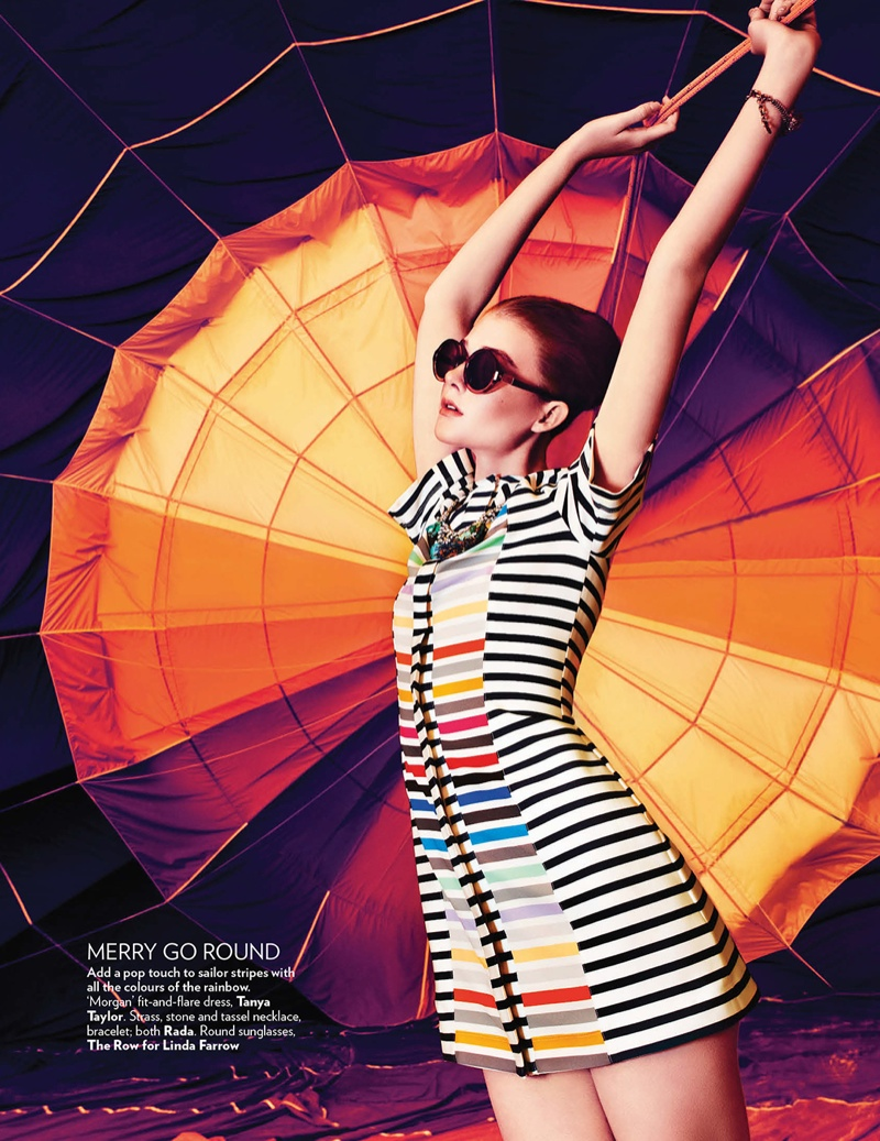 hot air balloon fashion shoot6 Up, Up & Away: Sarah Pauley Enchants for Vogue India Shoot by Mazen Abusrour