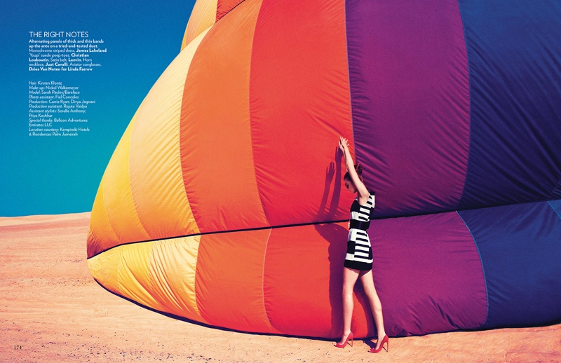 hot air balloon fashion shoot7 Up, Up & Away: Sarah Pauley Enchants for Vogue India Shoot by Mazen Abusrour