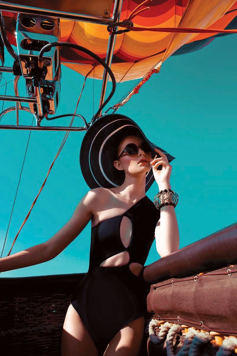 hot air balloon fashion shoot9 Up, Up & Away: Sarah Pauley Enchants for Vogue India Shoot by Mazen Abusrour