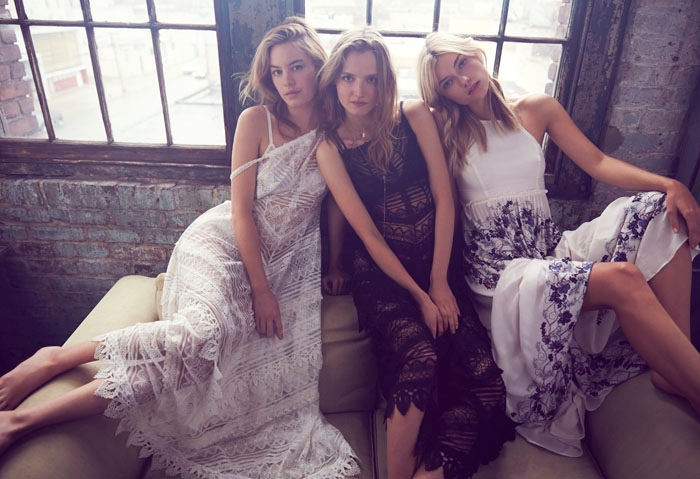 Camille Rowe, Farah Holt & Amanda Norgaard Charm in Intimately Free People Shoot