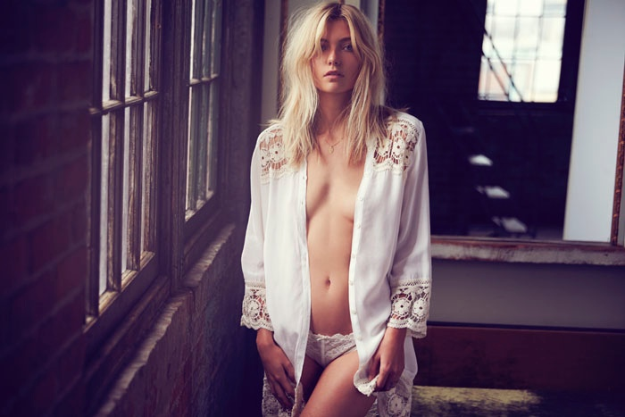 intimately free people david bellemere4 Camille Rowe, Farah Holt & Amanda Norgaard Charm in Intimately Free People Shoot