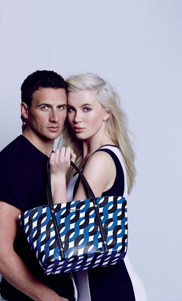 Ireland Baldwin & Ryan Lochte in Calvin Klein for Macy's American Icons Campaign. Photo courtesy of Macy's.