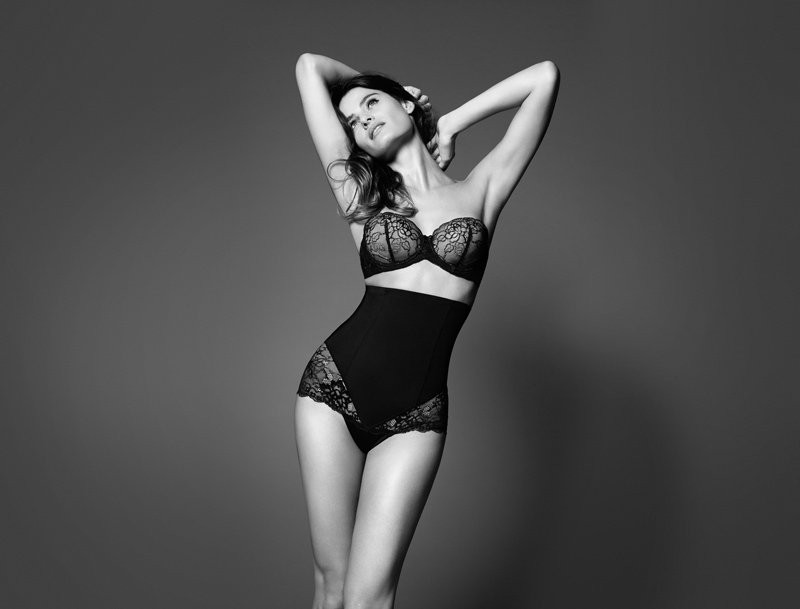 isabeli fontana lindex shapewear2 Isabeli Fontana Shapes Up for Lindex Spring 2014 Campaign