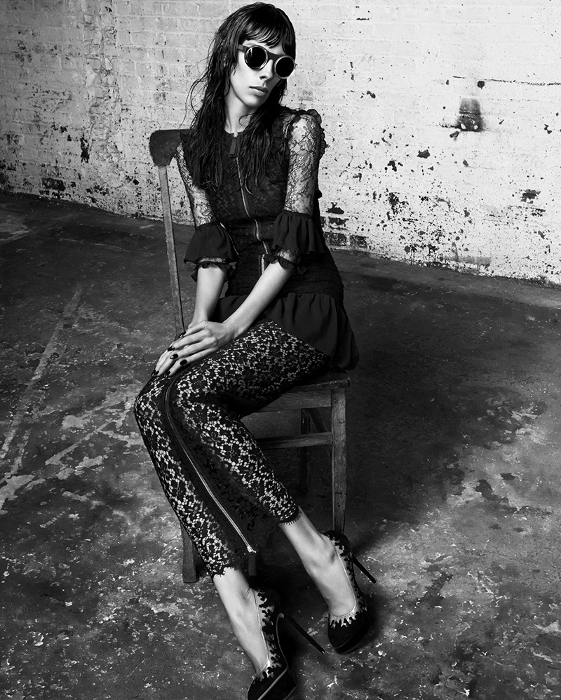 jamie bochert 2014 3 Jamie Bochert Gets Dark in VOLT Spring 2014 Shoot by Samantha Rapp