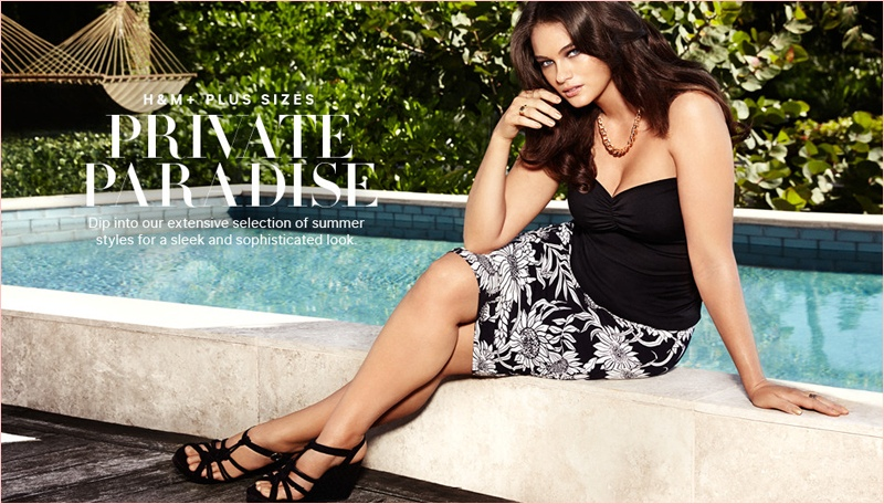 jennie runk hm photos 2014 1 Plus Size Model Jennie Runk Stars in H&M Private Paradise Photos