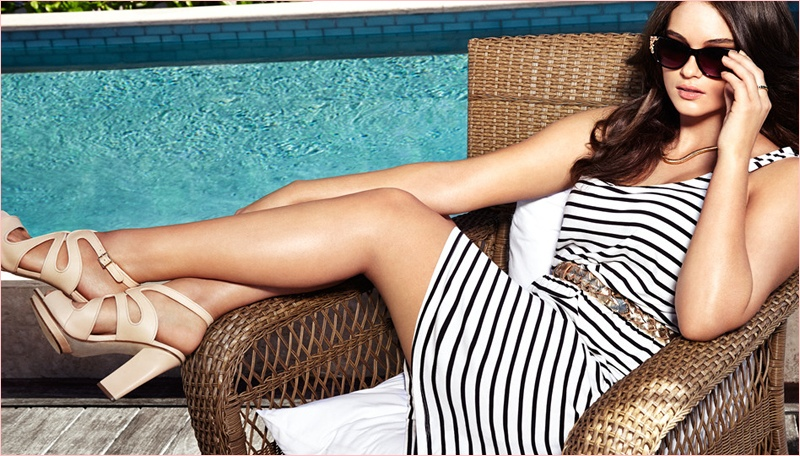 jennie runk hm photos 2014 5 Plus Size Model Jennie Runk Stars in H&M Private Paradise Photos