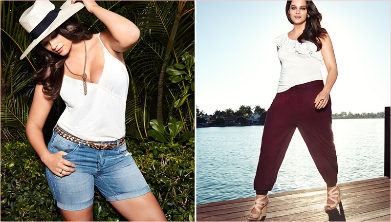 jennie runk hm photos 2014 6 Plus Size Model Jennie Runk Stars in H&M Private Paradise Photos