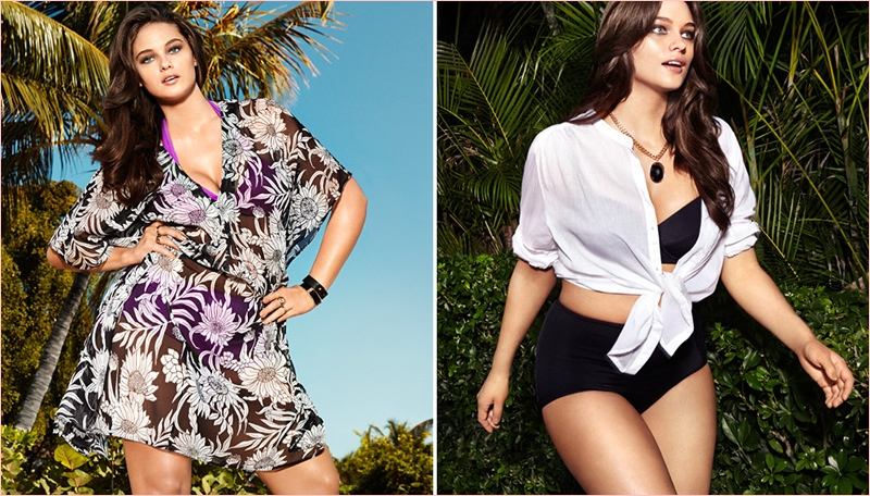 jennie runk hm photos 2014 7 Plus Size Model Jennie Runk Stars in H&M Private Paradise Photos