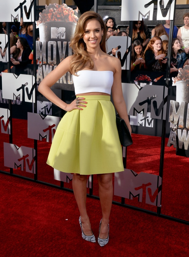 jessica alba mtv movie awards 2014 MTV Movie Awards Red Carpet Style