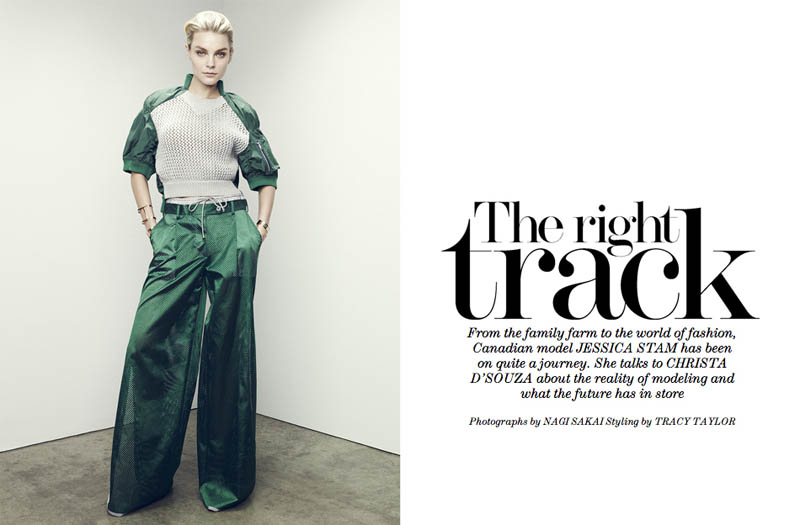 jessica stam 2014 1 Jessica Stam Wears Sporty Outfits for The Edit Shoot by Nagi Sakai