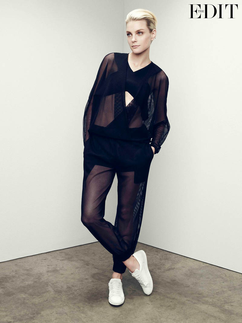 jessica stam 2014 3 Jessica Stam Wears Sporty Outfits for The Edit Shoot by Nagi Sakai