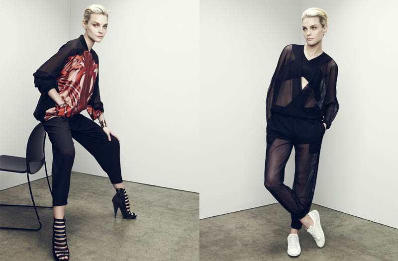 jessica stam 2014 4 Jessica Stam Wears Sporty Outfits for The Edit Shoot by Nagi Sakai
