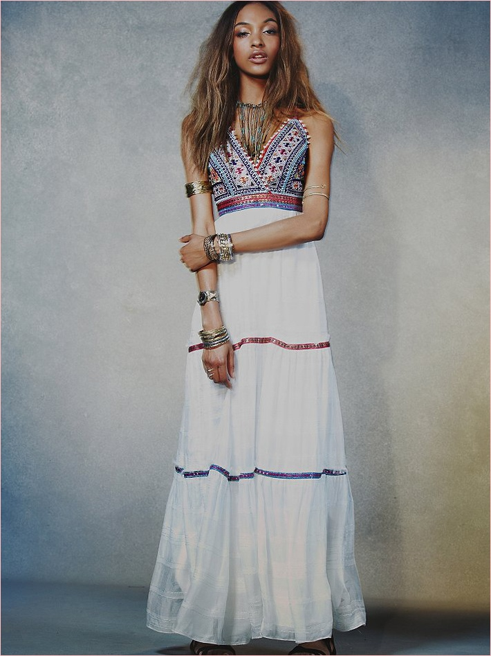 jourdan dunn free people photos10 Jourdan Dunn Wears Free Peoples Spring Dresses for New Shoot