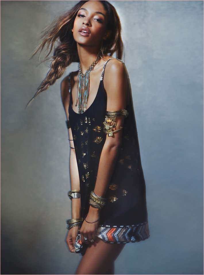jourdan dunn free people photos2 Jourdan Dunn Wears Free Peoples Spring Dresses for New Shoot