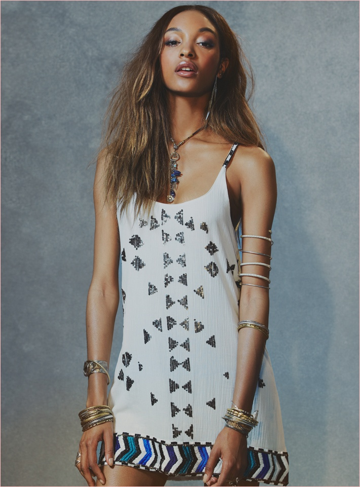 jourdan dunn free people photos3 Jourdan Dunn Wears Free Peoples Spring Dresses for New Shoot