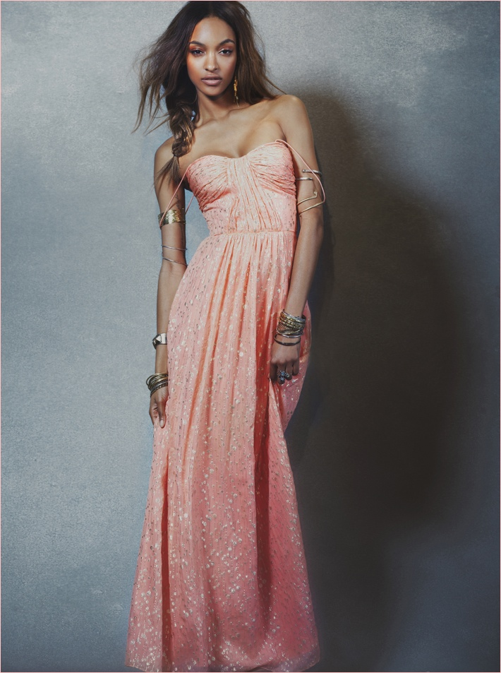 jourdan dunn free people photos5 Jourdan Dunn Wears Free Peoples Spring Dresses for New Shoot