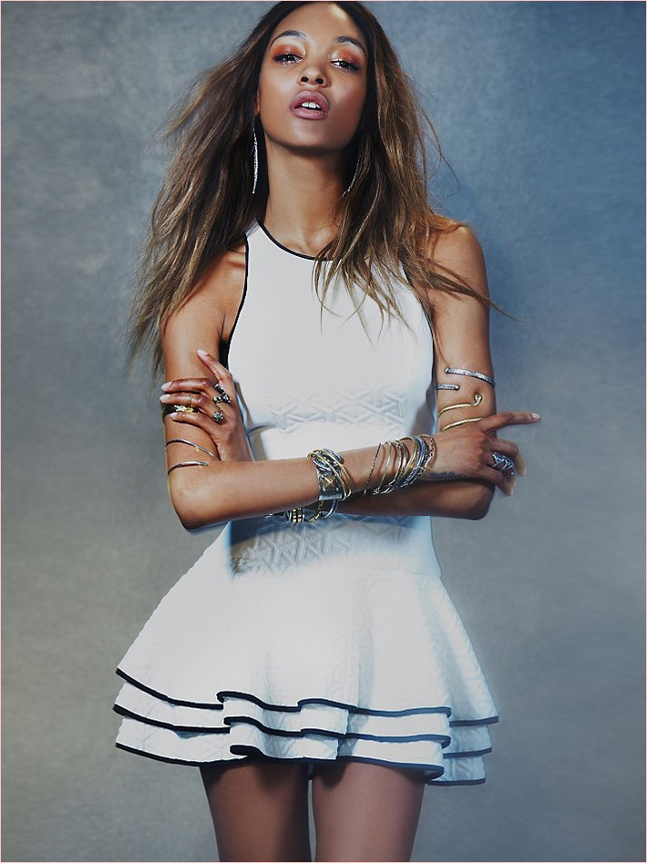 jourdan dunn free people photos6 Jourdan Dunn Wears Free Peoples Spring Dresses for New Shoot
