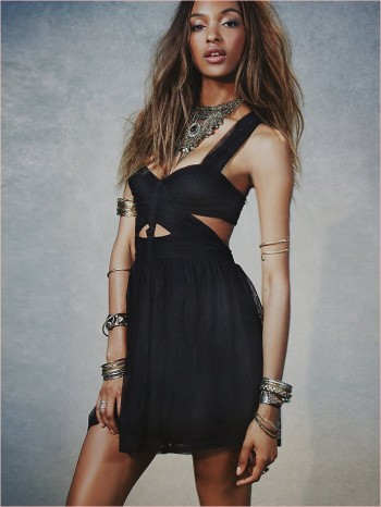 Jourdan Dunn Wears Free People's Spring Dresses for New Shoot