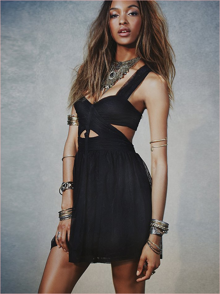 jourdan dunn free people photos7 Jourdan Dunn Wears Free Peoples Spring Dresses for New Shoot