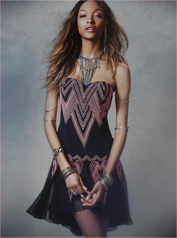 jourdan dunn free people photos8 Jourdan Dunn Wears Free Peoples Spring Dresses for New Shoot