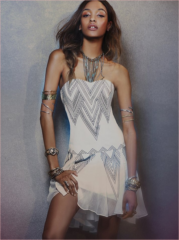 jourdan dunn free people photos9 Jourdan Dunn Wears Free Peoples Spring Dresses for New Shoot