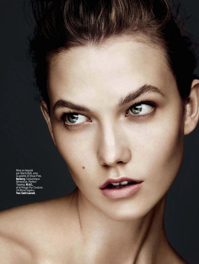 karlie beauty ben hassett15 Karlie Kloss Gets Painted for Ben Hassett in LExpress Styles Shoot