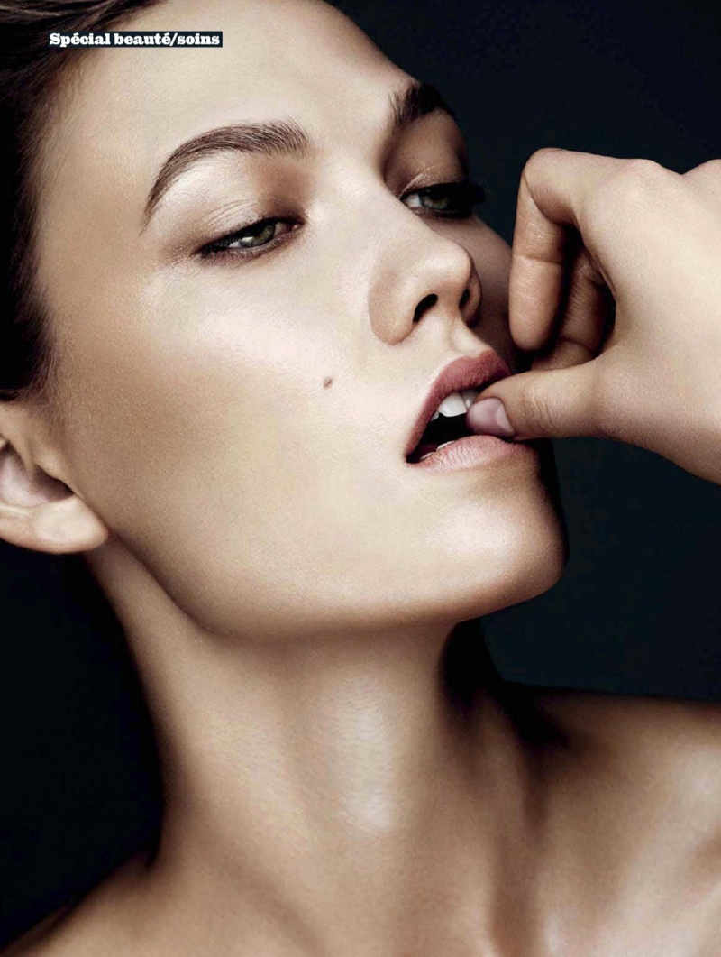karlie beauty ben hassett16 Karlie Kloss Gets Painted for Ben Hassett in LExpress Styles Shoot
