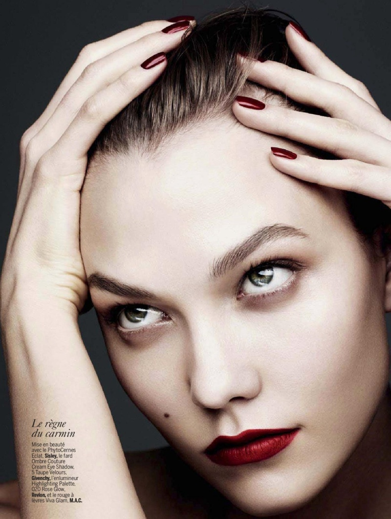 karlie beauty ben hassett6 Karlie Kloss Gets Painted for Ben Hassett in LExpress Styles Shoot