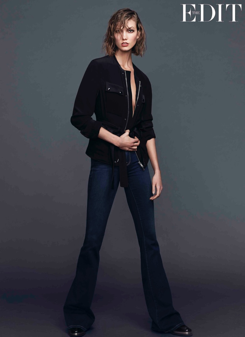 karlie kloss jeans shoot1 Karlie Kloss Stars in The Edit, Says She Looks Up to Christy Turlington