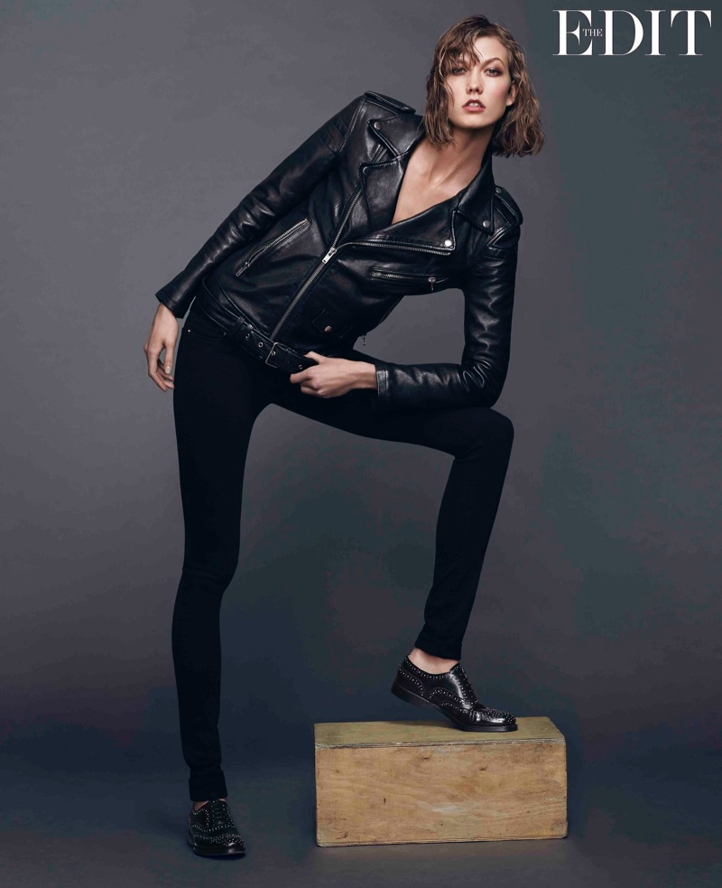 karlie kloss jeans shoot3 Karlie Kloss Stars in The Edit, Says She Looks Up to Christy Turlington