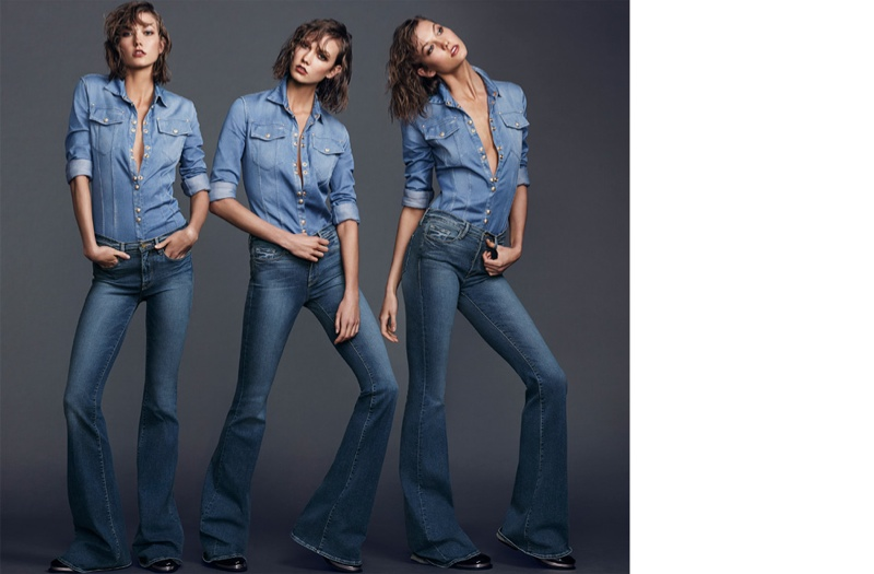 karlie kloss jeans shoot5 Karlie Kloss Stars in The Edit, Says She Looks Up to Christy Turlington