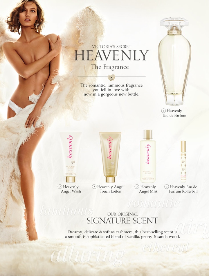 karlie vs angel heavenly scent1 Karlie Kloss Wears Wings (and Little Else) in Victorias Secret Heavenly Fragrance Ad