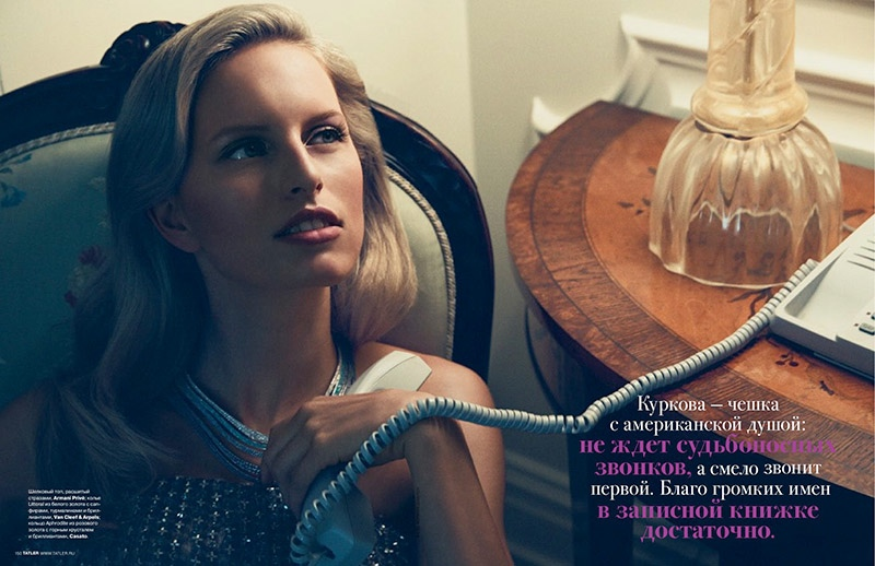 karolina kurkova domestic goddess4 Karolina Kurkova Has Domestic Bliss for Tatler Russia by Norman Jean Roy