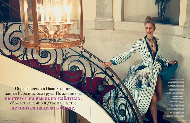 karolina kurkova domestic goddess6 Karolina Kurkova Has Domestic Bliss for Tatler Russia by Norman Jean Roy